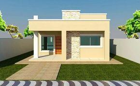 23 Fachadas de casas pequenas modernas de una planta