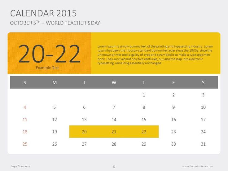 81 best Flat PowerPoint Slides images on Pinterest Presentation - sample power point calendar