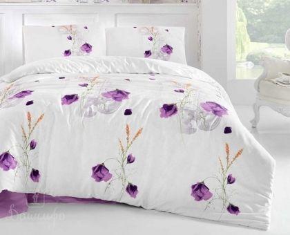Купить постельное белье ALTINBASAK EDITA фиолетовое 50х70 1,5-сп от производителя Altinbasak (Турция)