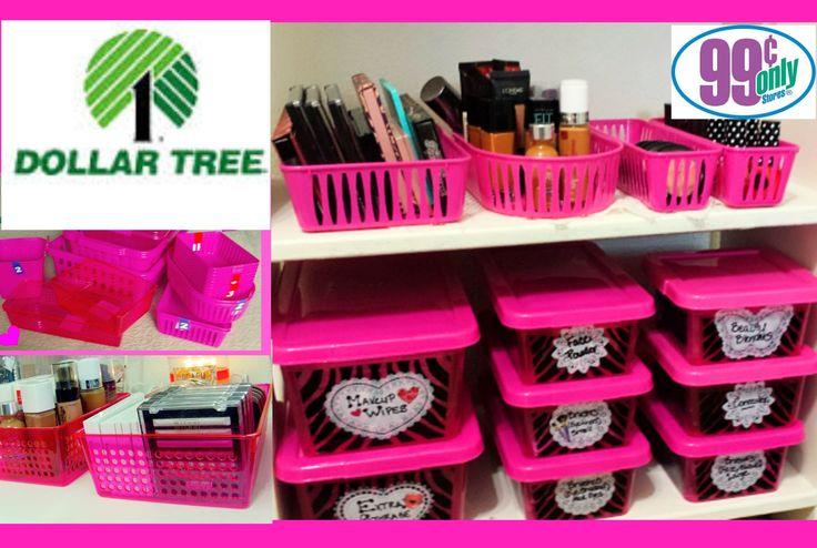 $1 Makeup Organization & Storage Ideas