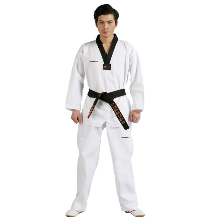 Cheap tkd uniform, Buy Quality taekwondo wtf uniforme directly from China white taekwondo uniform Suppliers: TKD Uniforms karate uniform Tae Kwon Do (TKD) Uniform for adult  kids TaeKwonDo ITF white DoBok Korea WTF Black V-NeckUS