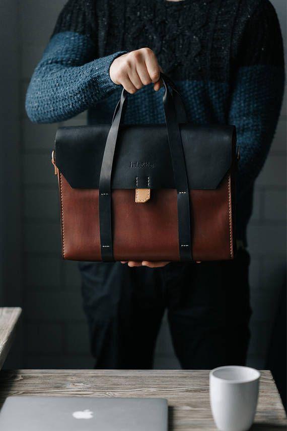 1830262e522a Leather Briefcase Men, Leather Messenger Bag, Men's Briefcase ...