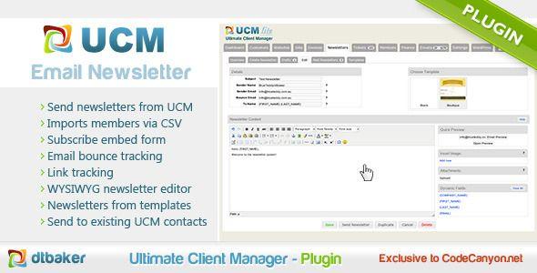 UCM Plugin: Bulk Email Newsletter System