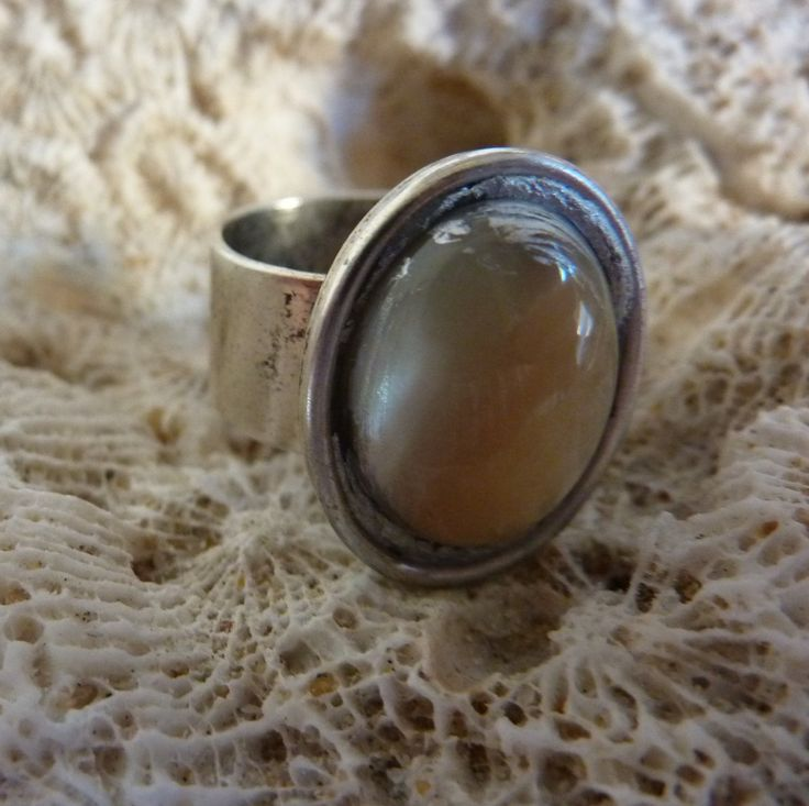 Mother Of Pearl Ring - handmade crystal energy gemstone jewellery Earth Jewel Creations Australia