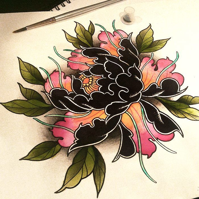 Pin by Tiffany y on Tattoo's | Tattoos, Japanese flower