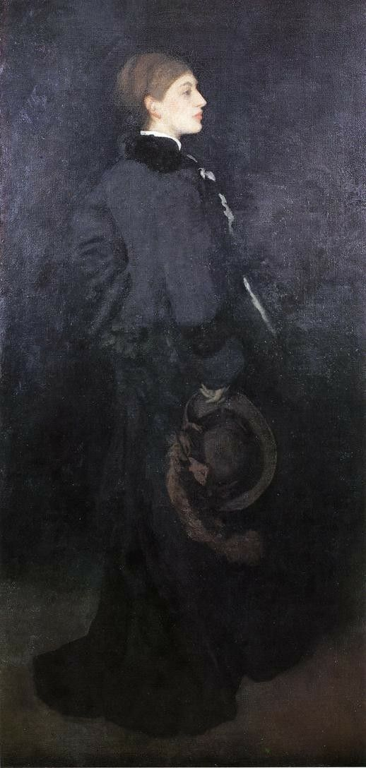 Arrangement in Brown and Black. Portrait of Miss Rosa CorderparJames McNeill Whistler   Size: 92.4x192.4 cm Medium: oil, canvas