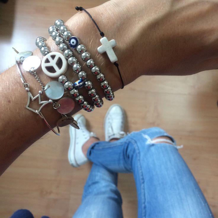A personal favorite from my Etsy shop https://www.etsy.com/listing/248165088/silver-pearls-bracelets-beads-bracelets