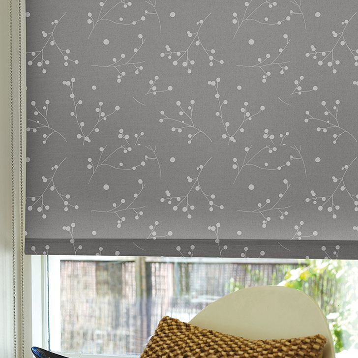 Merona Grey Patterned Roller Blinds Bathroom Window