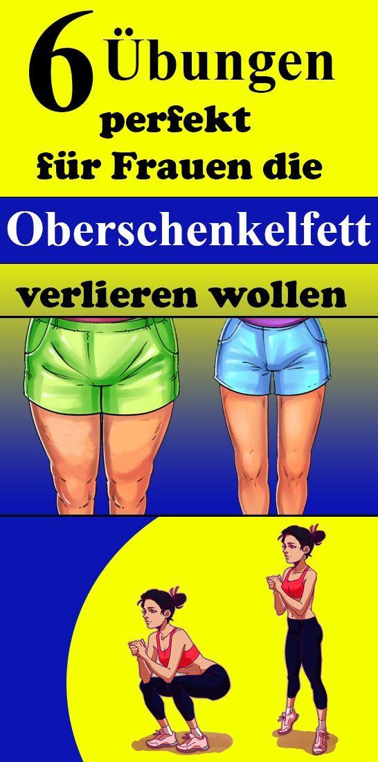 6 Übungen perfekt für Frauen, die Oberschenkel Fett verlieren möchten   – Fit…