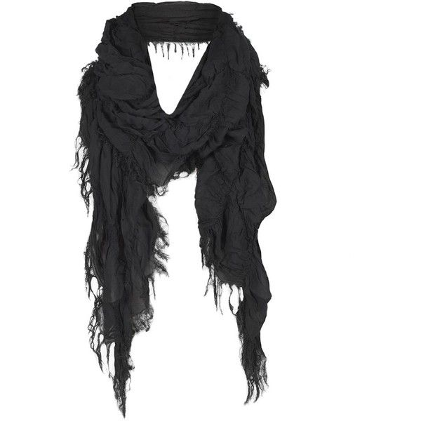 Ripple Scarf ($86) found on Polyvore featuring women's fashion, accessories, scarves, necklaces, misc, men, apparel men scarves, black shawl, black fringed shawl and fringed shawls
