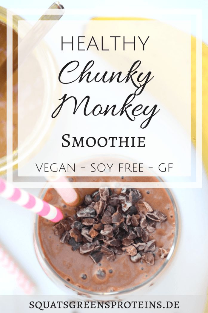 Recipe Chunky Monkey Smoothie - Erdnuss Bananen Schoko Smoothie - Gesundheit Abnehmen Fitness Lifestyle Rezept - Squats, Greens & Proteins