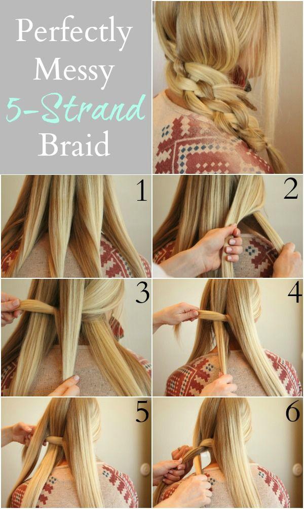 5 Strand Braid Part 1 Como Hacer Pinterest Hair Makeup