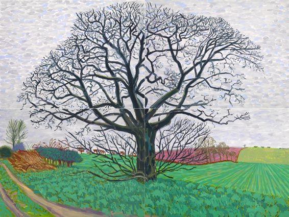 David Hockney - Large Tree Off The Track
