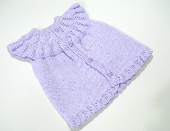 Purple Knitted baby vest dress baby girl top Knit by AllSoCute, $25.00