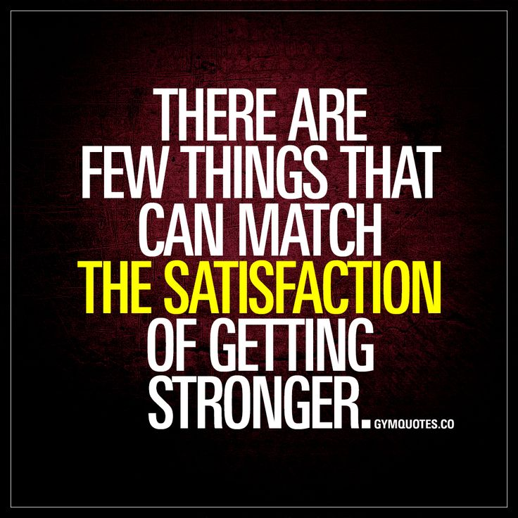 """""""There are few things that can match the satisfaction of getting stronger."""" - Gotta love #gettingstronger - Enjoy another gym and fitness quote from www.gymquotes.co"""