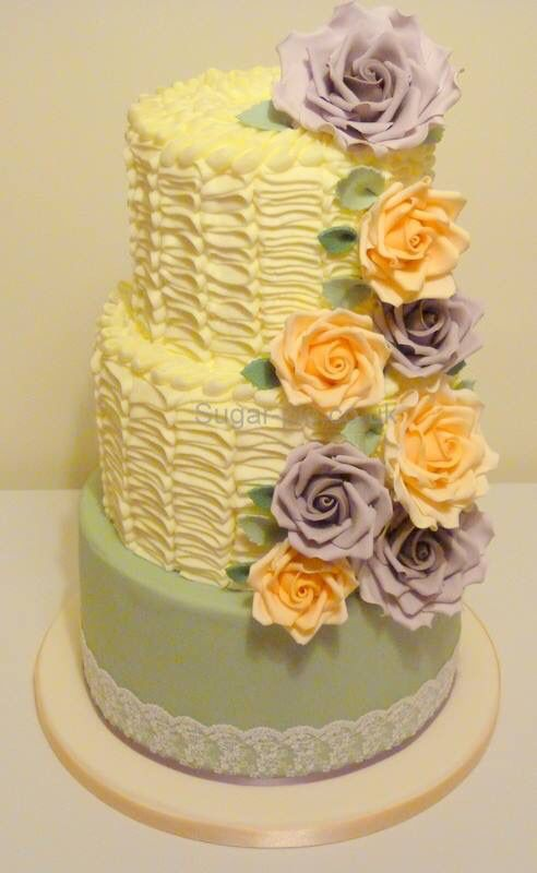 Buttercream ruffles and roses