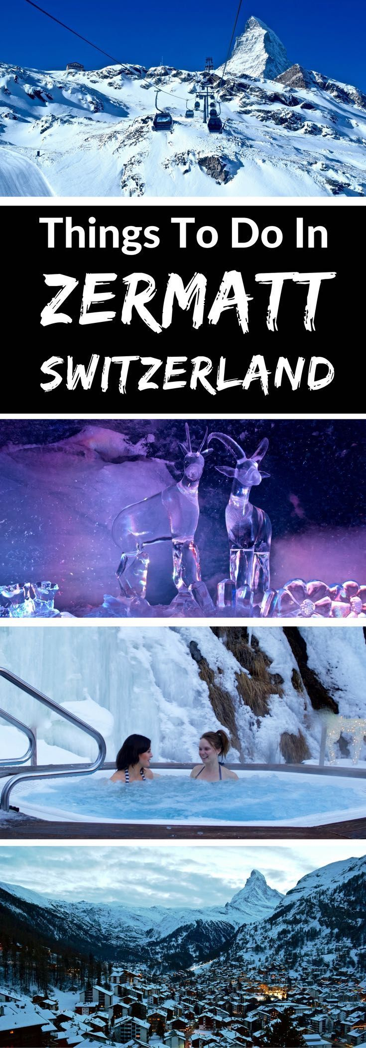 Top Things To Do In Zermatt Switzerland. Zermatt's relaxing spas, top restaurants, stunning views and great activities mean there are plenty of great things to do for non-skiers who fancy a winter holiday in Switzerland.