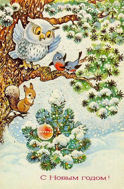 каждой открытки с новым годом 1980 с птицами больница