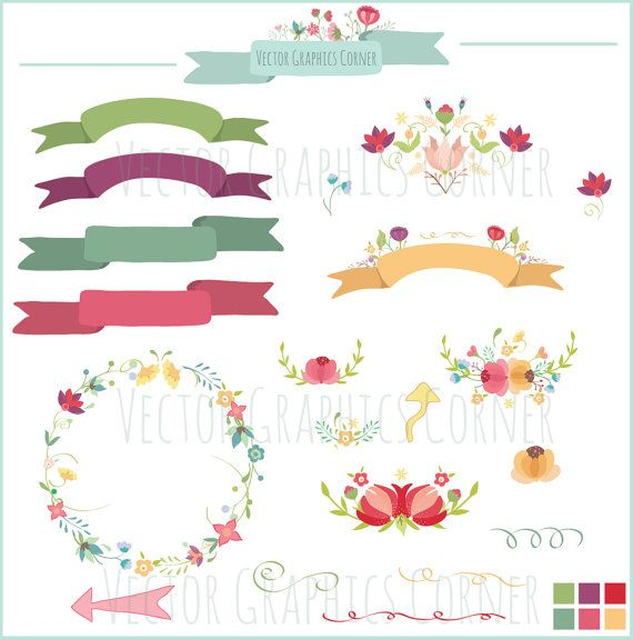 clipart floral banner - photo #31