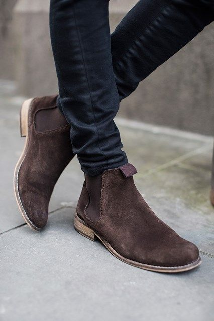 Suede Chelsea boots...nice
