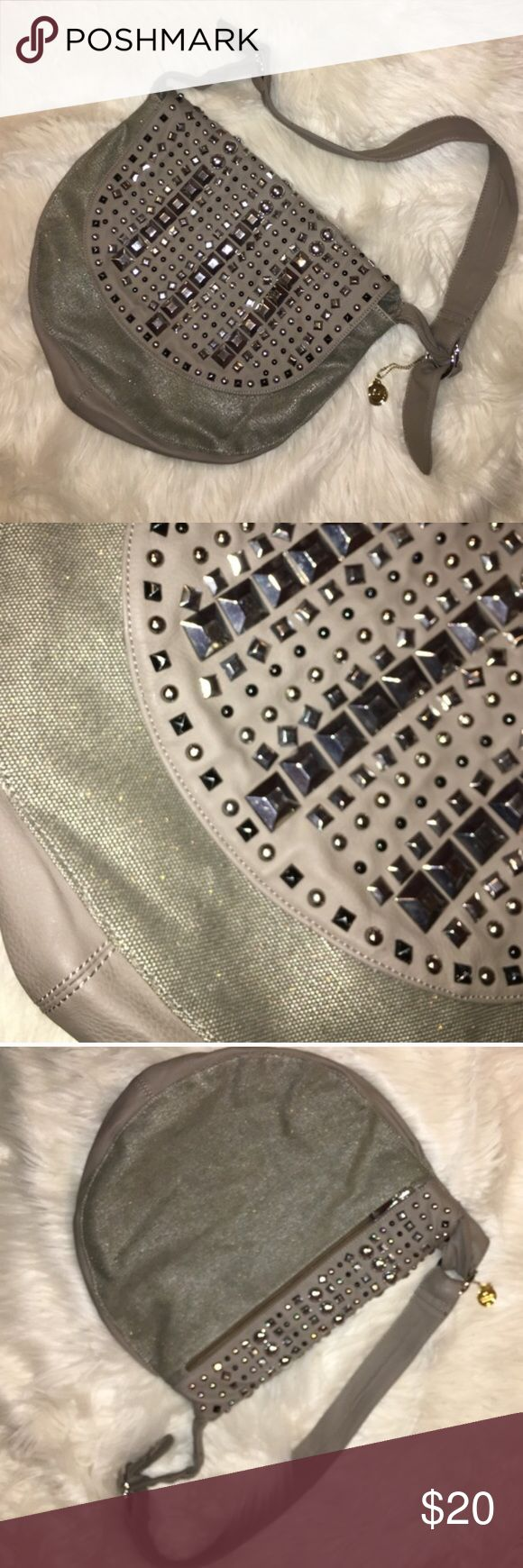 Big Buddha Rhinestone Handbag Great Shoulder Bag! Very Well Made, Thick Fabric. No Stones are Missing. Slight Shimmer. Has Adjustable Strap, but Not Long Enough for a Crossbody. Immaculate Inside w/out Stains ... Only Sign of Wear is on Straps. Bought @ DSW 💚 Big Buddha Bags Shoulder Bags