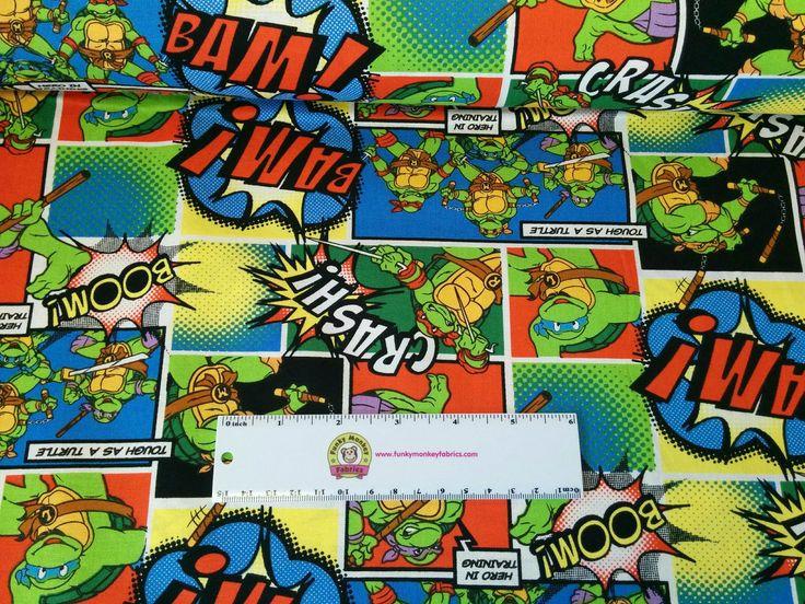 Funky Monkey Fabrics Inc. - TMNT Comics Patch Full Color - 1/2 yard, $5.00 (https://funkymonkeyfabrics.com/tmnt-comics-patch-full-color-1-2-yard/)