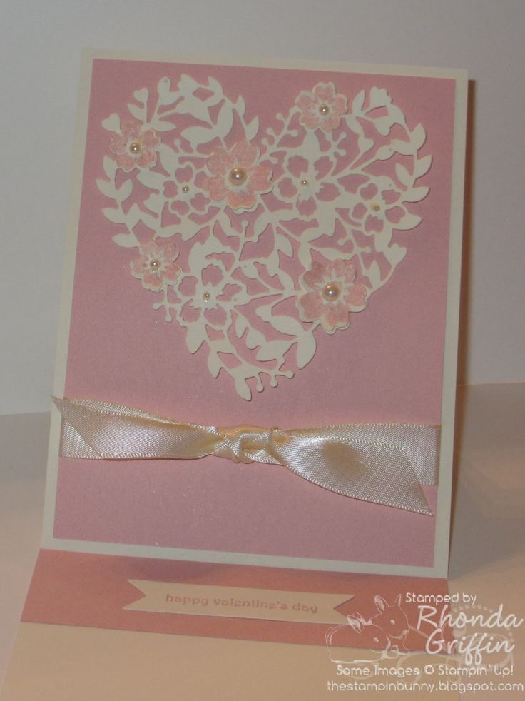 The Stampin' Bunny: Easel Stampin' Up! Bloomin' Heart Thinlits Die Card