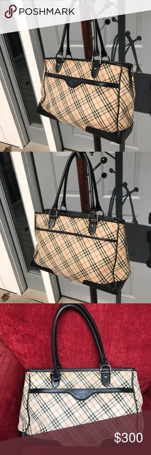 Burberry Tote Bag This is my oldest burberry bag. It has some sign of wear but still in good condition. Make reasonable offer Burberry Bags Totes