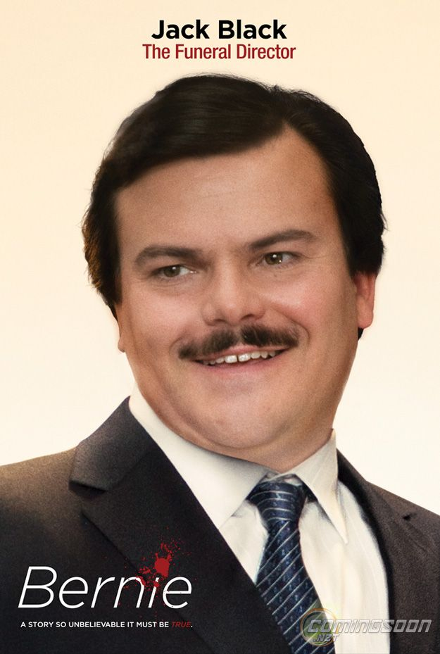 Jack Black plays Bernie Tiede in Bernie.  This is such a funny...great movie!!