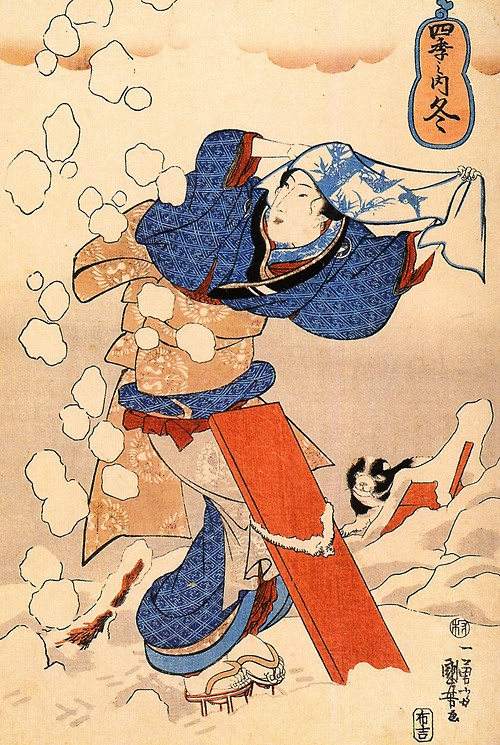Utagawa Kuniyoshi (Japanese: 歌川国芳) (ca. 1797 - April 14, 1861) was one of the last great masters of the Japanese ukiyo-e style of woodblock prints and painting and belonged to the Utagawa school.