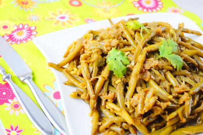 Haricots verts sautés à l'ail, recette facile · Aux delices du palais