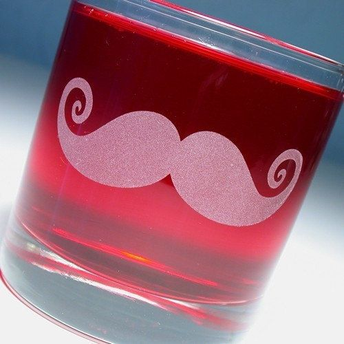 Etched mustache glass