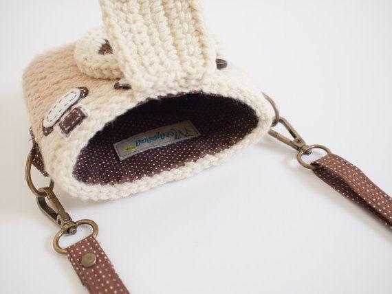 Crochet Case for Fuji Instax Camera Vintage Camera/ by Meemanan