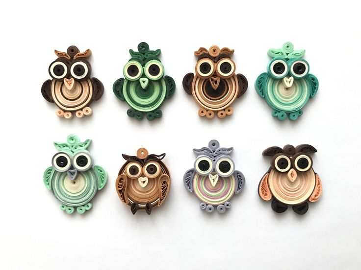 ❤️owls quilling pendants