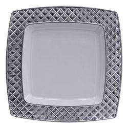 Partytrends has elegant china-like plastic plates and plastic bowls for any event. Check out products like Decor China-Like Diamond White-Silver Square ...  sc 1 st  Pinterest & 11 best Elegant Plates images on Pinterest | Elegant Plastic plates ...