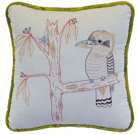 $7  The Australian Kookaburra is the 3rd in our Aussie Bird Series of stitcheries.