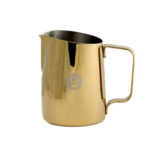 This Coloured Stainless Steel Milk jug in 650ml size, is excellent for households or cafes where 300ml just isnt enough. A thicker setting than our basic stainless steel means excellent quality and durability.   The tapered angle and rounded spout makes for top pouring control.