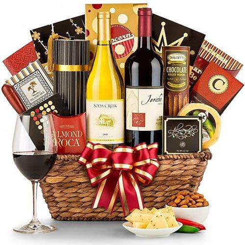 Toast Of California Wine Basket | 60th Birthday Gifts For Women | 60th Birthday Gift Ideas For Her| Moms Sixtieth