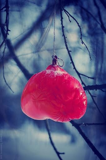 """Украшаем все вокруг! - Фотоэксперимент """"Когда уходит любовь.."""" #heart, #grey, #blue, #winter, #ballon"""