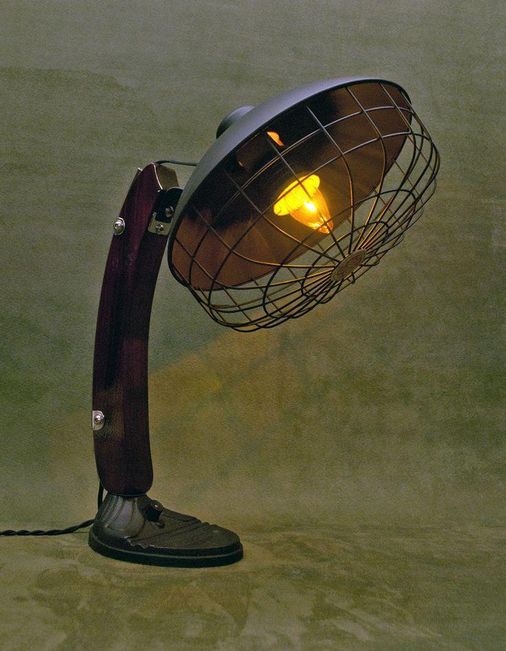 Vintage GE Radiant Heater Desk Lamp/Table Lamp by Slidewaysdesigns on Etsy https://www.etsy.com/listing/266295570/vintage-ge-radiant-heater-desk-lamptable