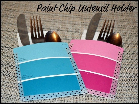 Paint chip crafts also good idea for a gender reveal baby shower