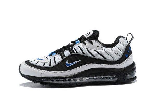 Nike Air Max 98 Orlando 640744 102 Blanc HYPER COBALT-Noir-METALLIC SILVER 5d3c6795d