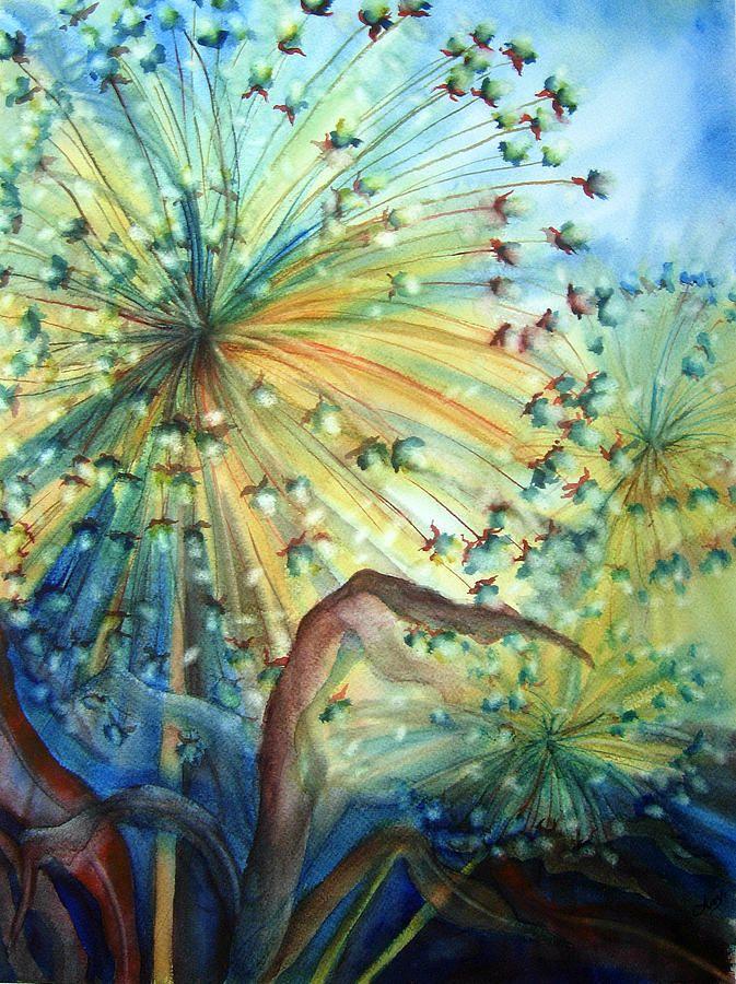 Dandelion Lights Painting  Angela Grainger