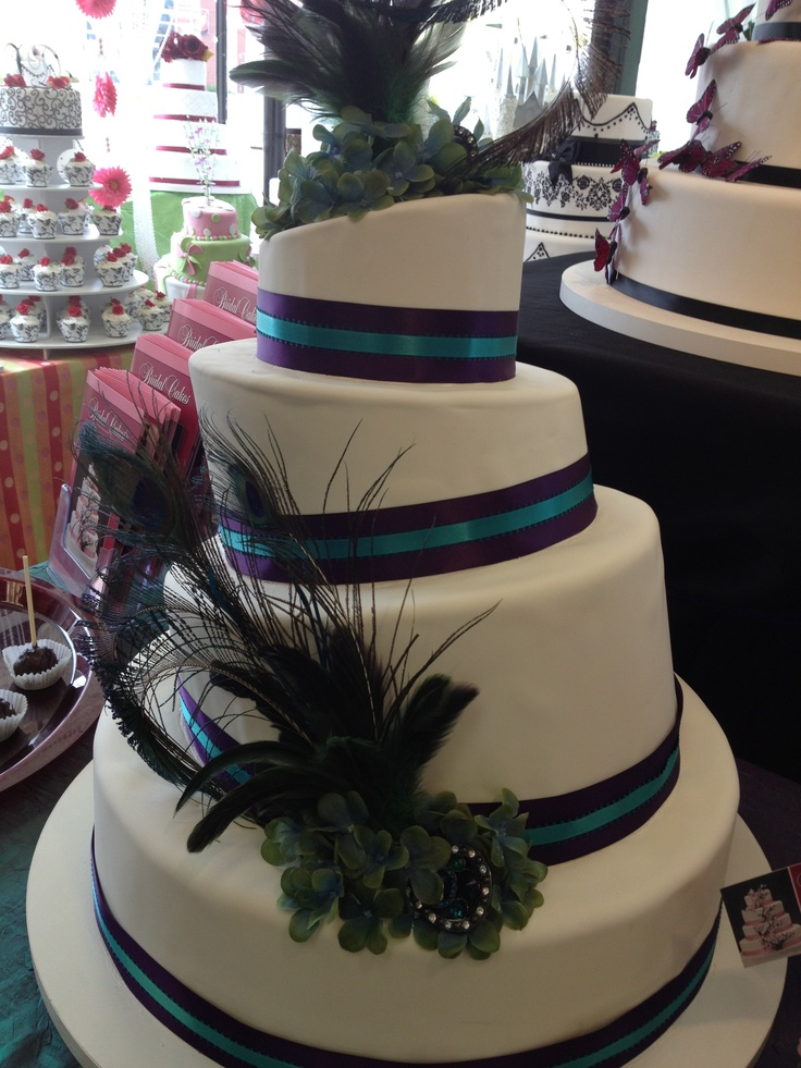 peacock colored wedding cakes 31 best images about teal royal purple wedding on 18155