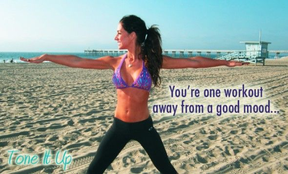 You're one workout away from a good mood!