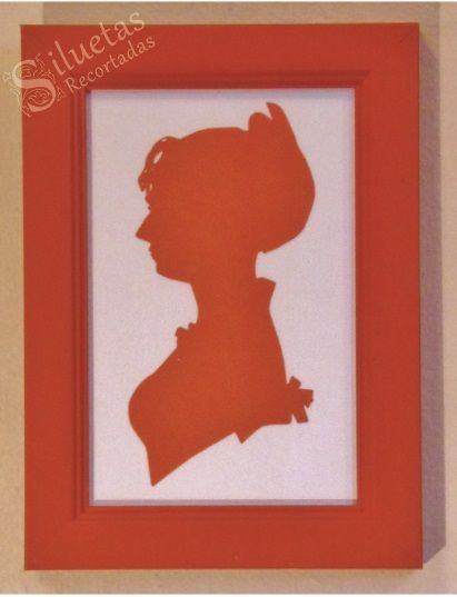 Siluetas de cartulina, Colección Retratos de mujeres.  Síguenos en www.facebook.com/perfilfiligranasiluetas. Mas información en correo@filigranasiluetas.cl