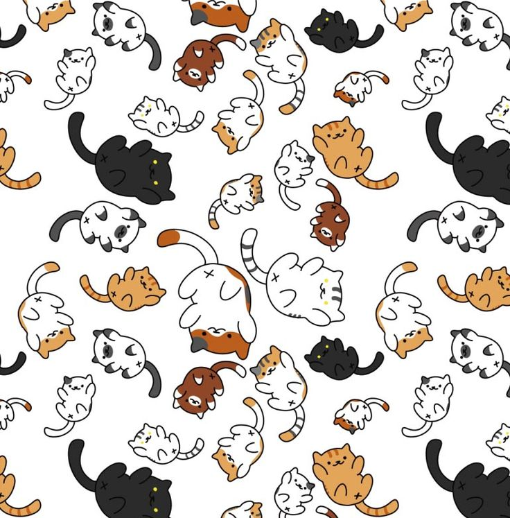 Best 25 cat pattern ideas on pinterest felt cat black - Cat wallpaper cartoon ...