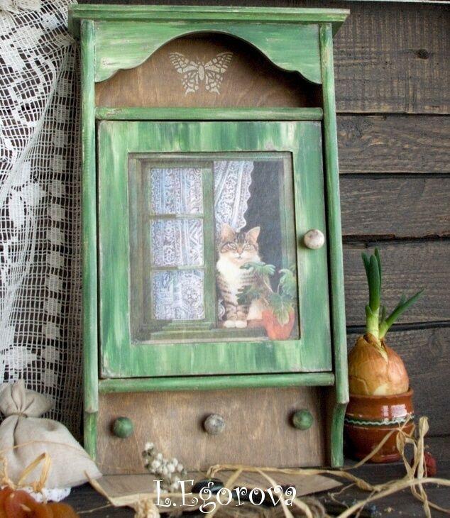 "Декупаж - Сайт любителей декупажа - DCPG.RU   Декупаж и новые ""кошки"" Click on photo to see more! Нажмите на фото чтобы увидеть больше! decoupage art craft handmade home decor DIY do it yourself acryle distress print stencil"