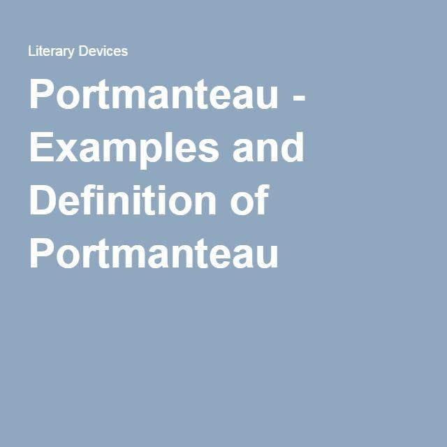 portmanteau word description example essays