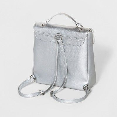 T-Shirt & Jeans Women's Square Backpack - Silver